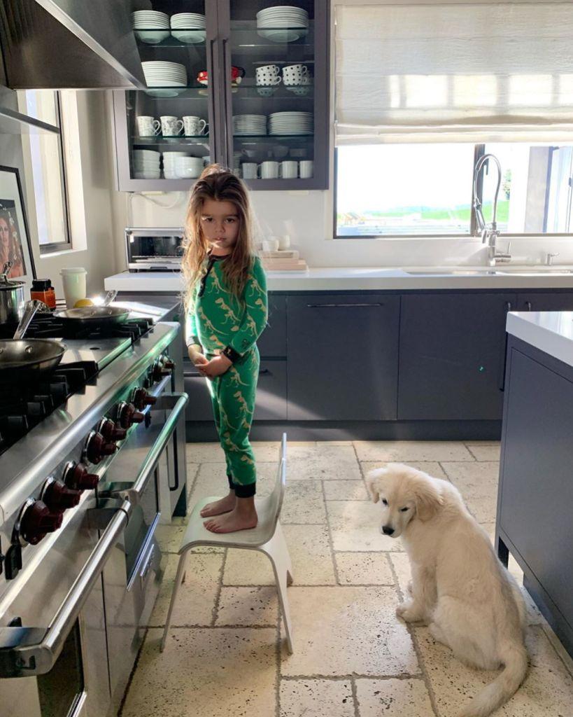 Kourtney Kardashian Son Reign With Puppy