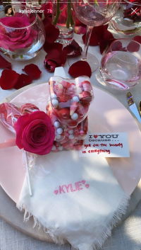 Kylie Jenner Valentine's Day Drink and Draw Party