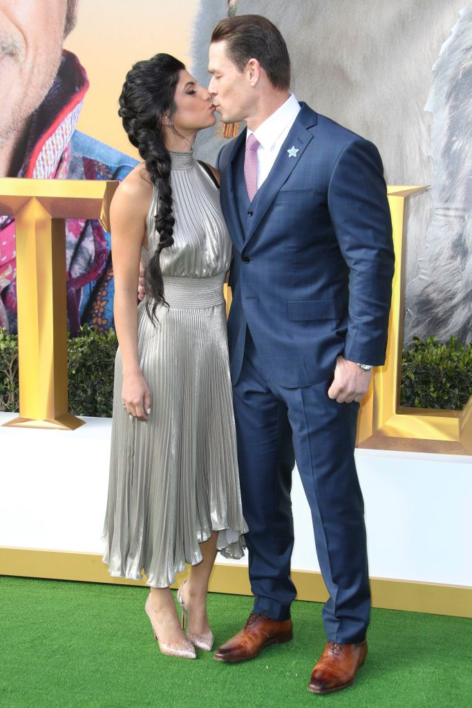 John Cena and Shay Shariatzadeh Kiss on Dolittle Red Carpet