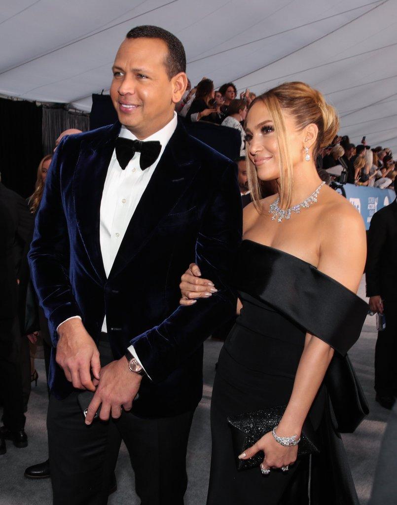 Jennifer Lopez and Alex Rodriguez 26th Annual Screen Actors Guild Awards, Arrivals, Shrine Auditorium, Los Angeles, USA - 19 Jan 2020