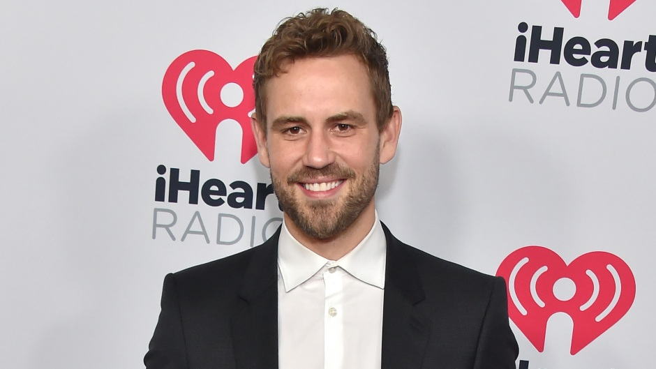 Nick Viall Smiles in Suit and White Button Down