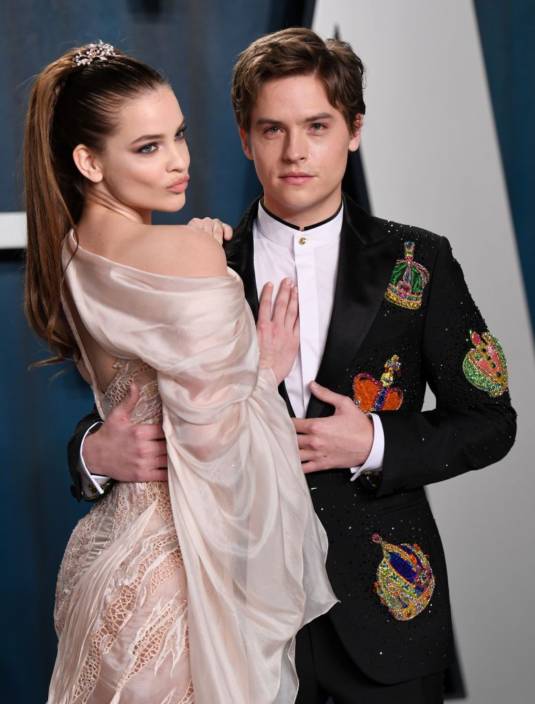 Dylan Sprouse and Barbara Palvin Red Carpet PDA Vanity Fair Oscars Party