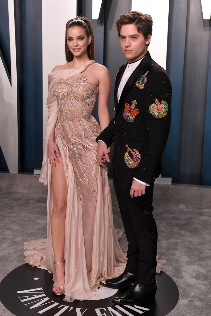 Barbara Palvin and Dylan Sprouse Vanity Fair Oscars Party PDA