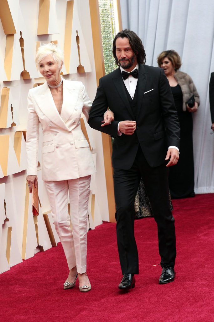 Keanu Reeves and Mom Patricia 92nd Annual Academy Awards, Arrivals, Los Angeles, USA - 09 Feb 2020