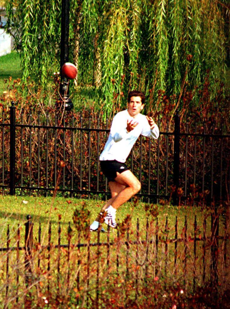 John F Kennedy Jr Playing Football