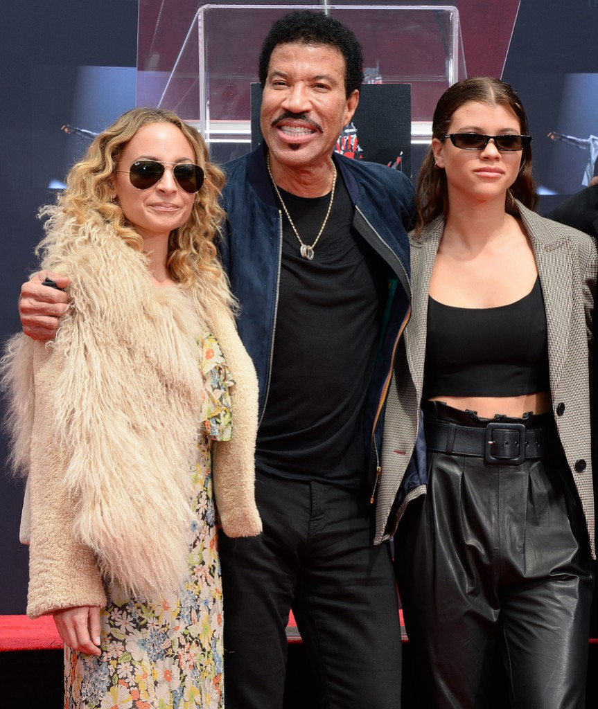 Sofia Richie With Dad Lionel and Adopted Sister Nicole Richie
