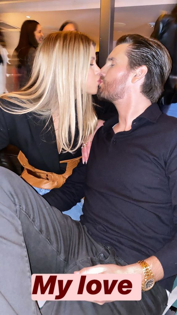 Scott Disick Kisses Girlfriend Sofia Richie in Instagram Photo