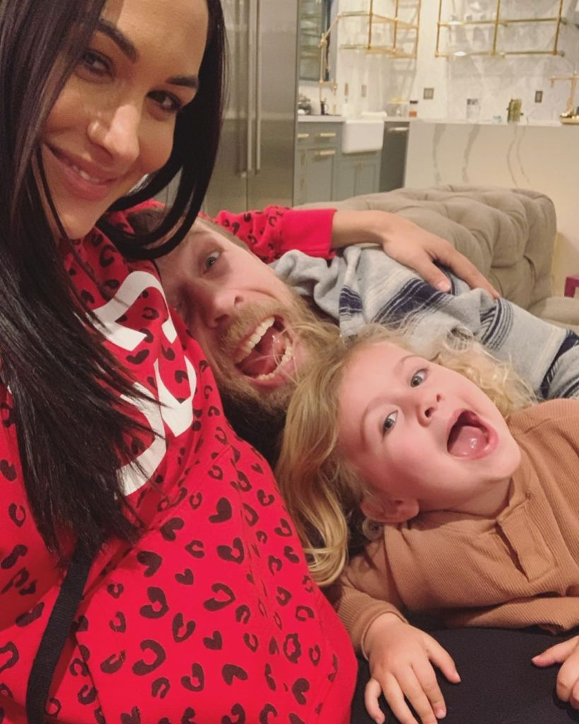 Brie Bella Smiles in Selfie With Husband Daniel Bryan and Daughter Birdie