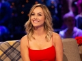 Bachelorette Clare Crawley Smiles in Red Dress