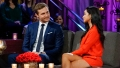 Victoria Fuller Wears Red Jumpsuit and Sits With Peter Weber in Blue Suit During Women Tell All Bachelor