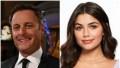Bachelor Host Chris Harrison Wears Black Suit in Split Image With Hannah Ann Sluss in Purple Top