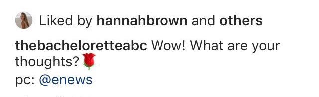 Hannah Brown Likes Shady Post About Peter Weber After Bachelor Finale