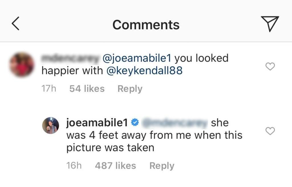 Joe Amabile Instagram Comments