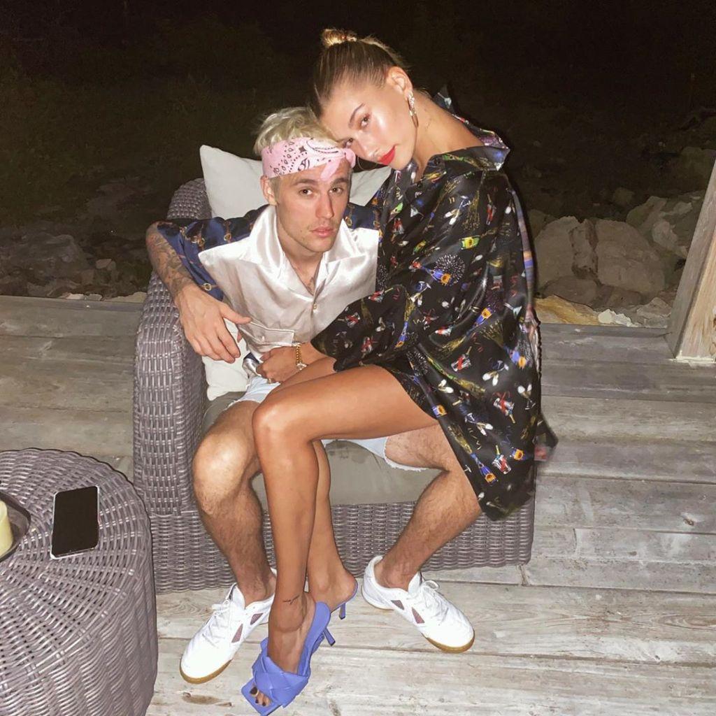 Justin Bieber and Hailey Baldwin Posing on the Beach