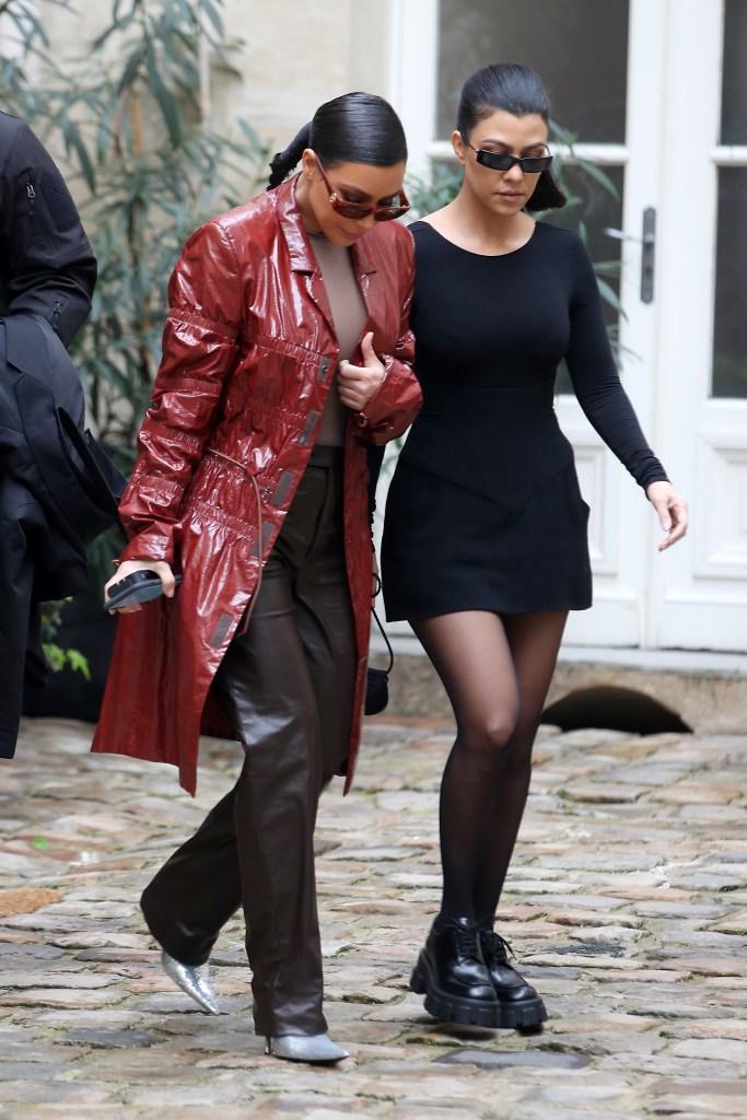 Kim Kardashian and Kourtney Kardashian, out and about, Paris Fashion Week, France - 02 Mar 2020