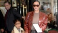 Kim Kardashian and daughter North West leaving the Flore Cafe in Paris