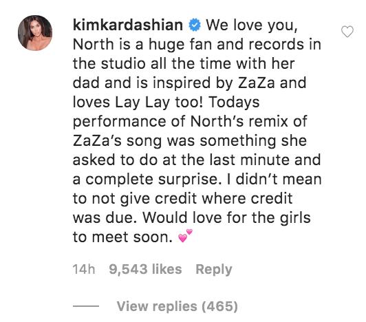 Kim Kardashian Replies to ZaZa