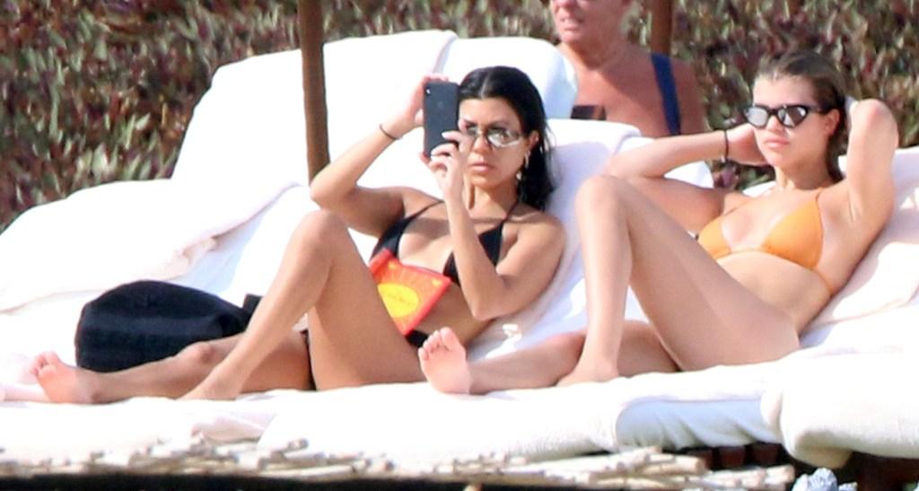 Sofia Richie and Kourtney Kardashian Sit in Bikinis in Mexico