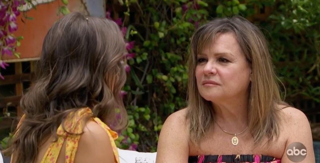 Peter Webers Mom Barbara Talks With Hannah Ann on Bachelor