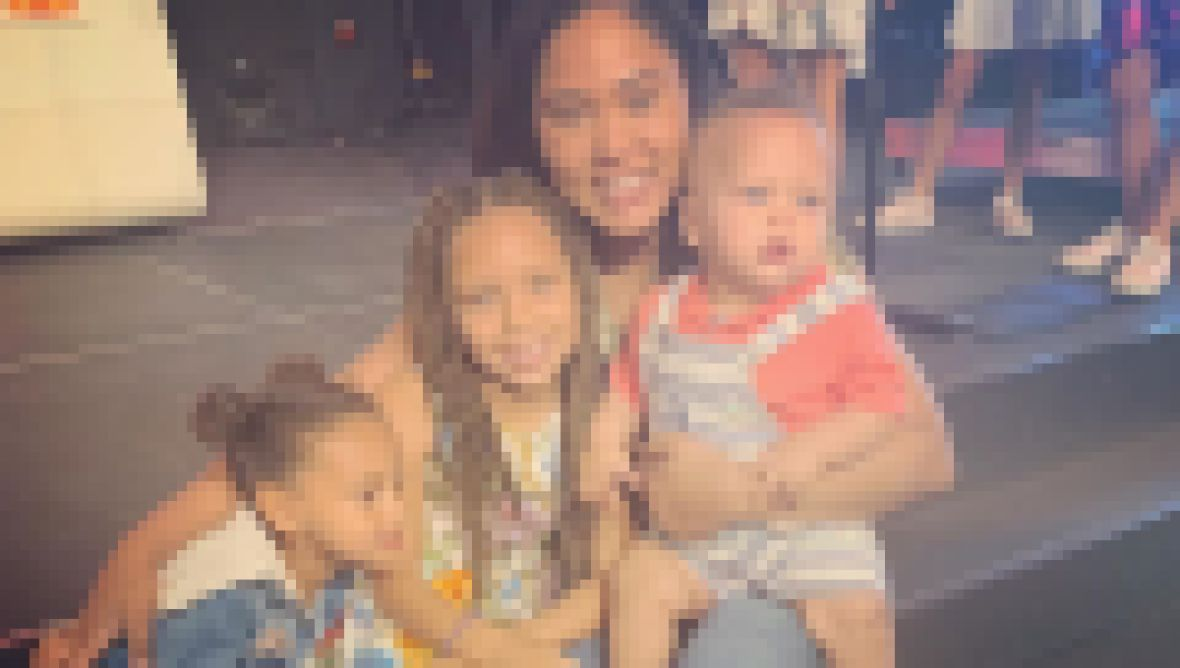 Ayesha Curry Smiles with Kids Riley Ryan and Canon