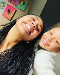 Ayesha Curry and Riley Curry Smile Together