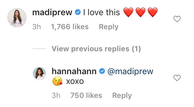 Madison Prewett Comments on Hannah Ann Sluss Instagram Photo After Peter Weber Breakup