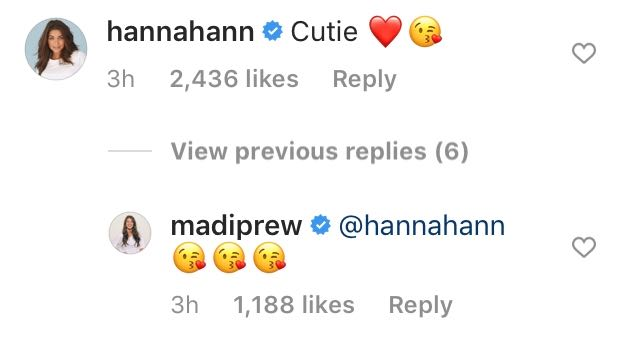 Hannah Ann Comments Cutie on Madison Prewetts Instagram Photo After Peter Split