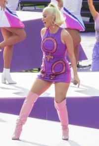 katy-perry-baby-bump-purple-dress-womens-cricket-final