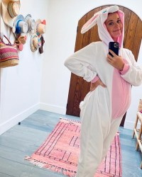 Katy Perry Shows Off Baby Bump in Bunny Costume on Easter