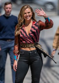 Hannah Brown Before Jimmy Kimmel Live Taping