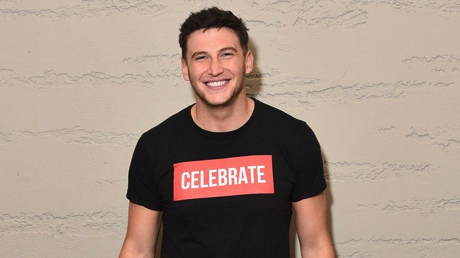 Bachelor in Paradise Star Blake Horstmann Wears Black Tshirt That Says Clearance and Black Jeans