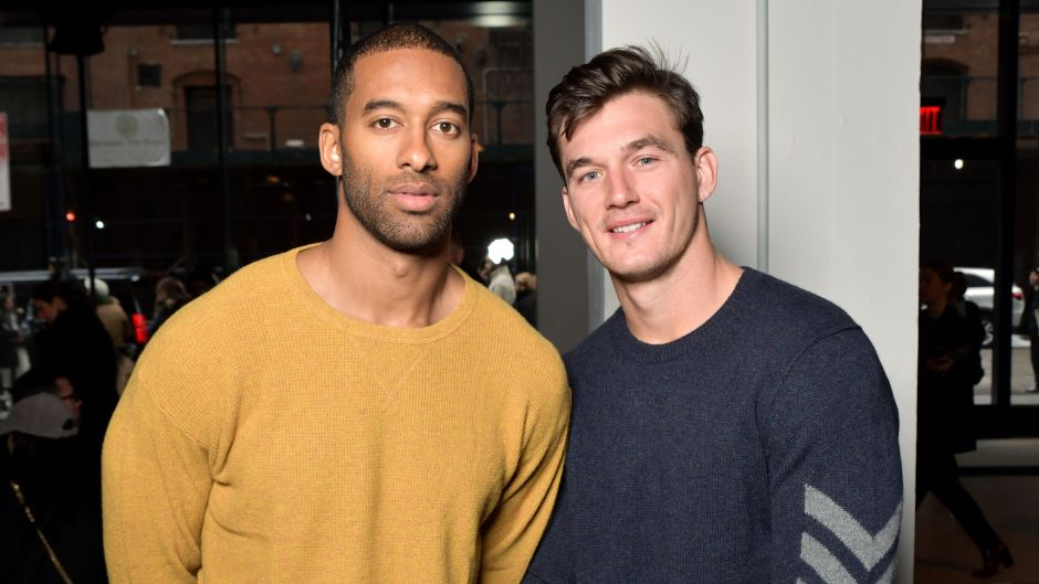 Tyler Cameron Poses With Friend Matt James Before Clare Crawleys Season of The Bachelorette