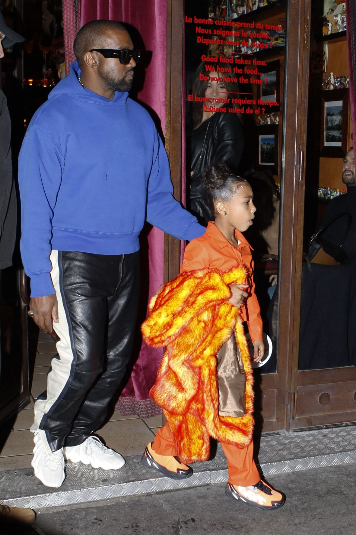 Kanye West and North in Paris