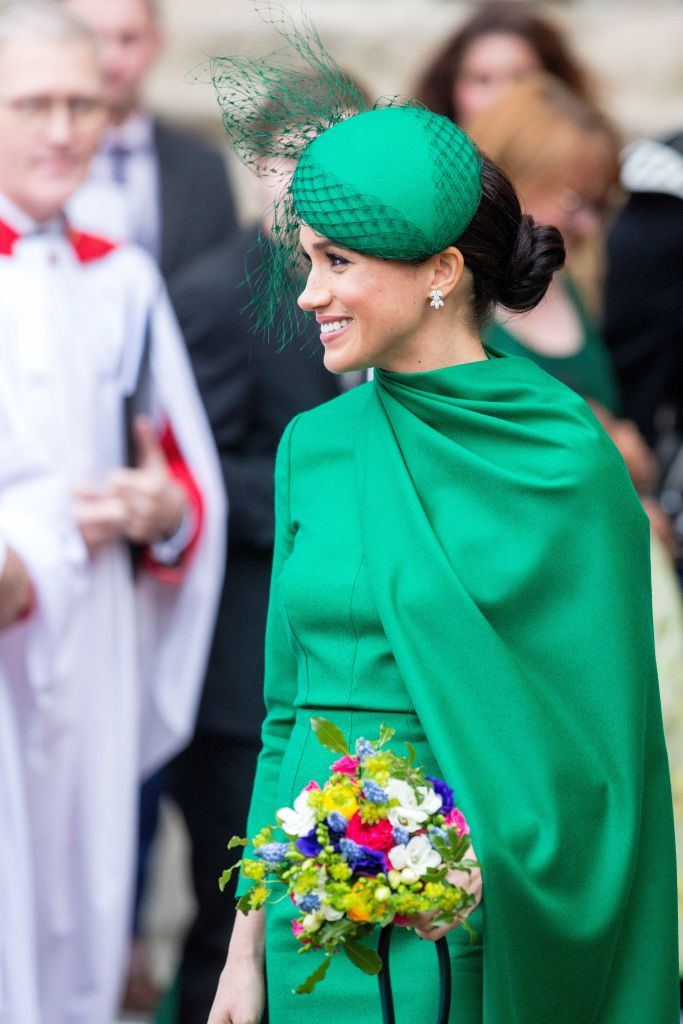 Meghan Markle Green Dresss and Hat Commonwealth Day Service, Westminster Abbey, London, UK - 09 Mar 2020
