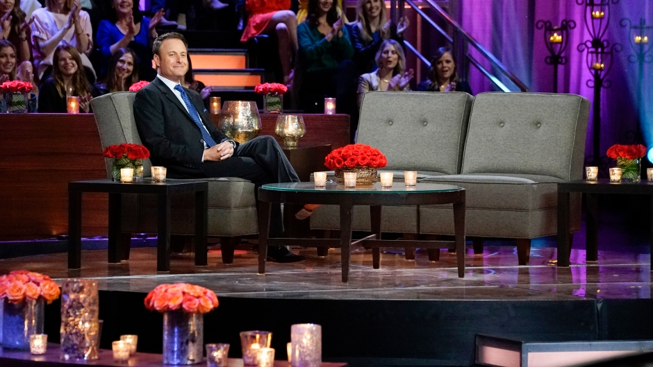 Bachelor Host Chris Harrison Sits and Smiles With Live Audience During Women Tell All