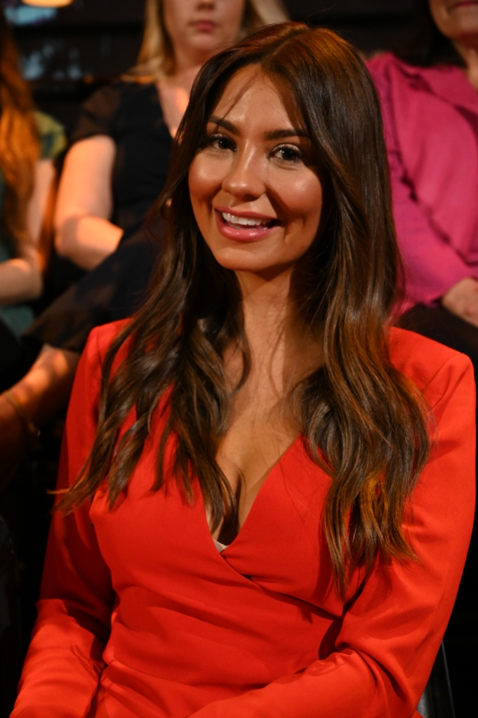 Kelley Flanagan Smiles in Red Dress at Bachelor After the Final Rose Finale