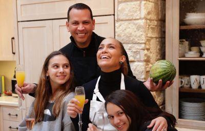 Alex Rodriguez's Kids and Jennifer Lopez
