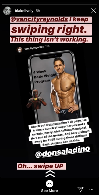 Blake Lively Teases Ryan Reynolds Over hot Trainer