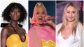 Jodie Turner Smith Pregnant Yellow Gown Katy Perry Pregnancy Style Pink Dress Iskra Lawrence Pregnant White Shirt and Shimmering Pants