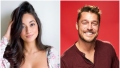 Bachelor Contestant Victoria Fuller Fluffs Her Hair in Flowered Top in Split Image With Bachelor Chris Soules Smiling in Maroon Henley Top