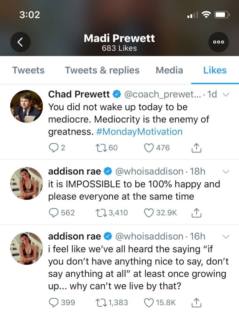 Madison Prewett Likes Tweets About Please Everybody Amid Drama With Nick Viall
