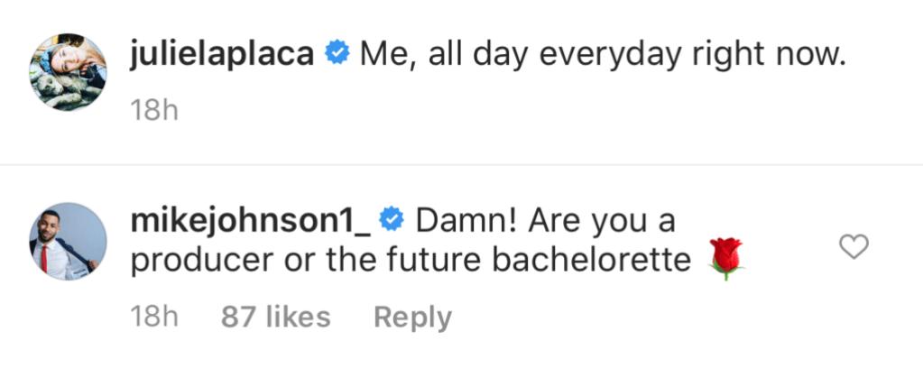 Mike Johnson Comments on Bachelor Producer Julie Laplaca Photo
