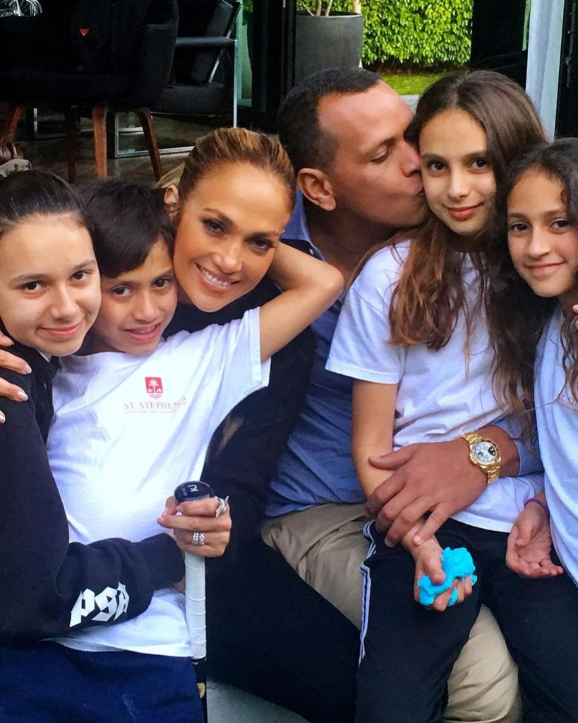 Jennifer Lopez and Alex Rodriguez and Their Kids