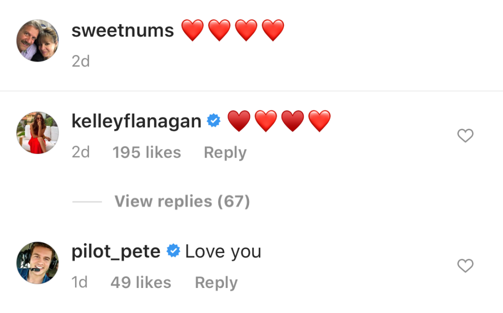 Kelley Comments on Barbs IG