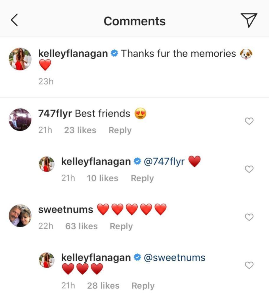 Kelley Flanagan's Instagram Comments
