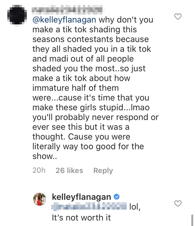 Kelley Flanagan Twitter Comments