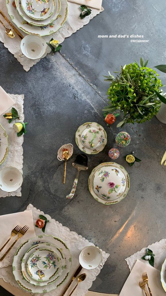 Kourtney Kardashian Dining Table