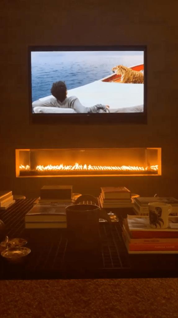 Kourtney Kardashian Fireplaces