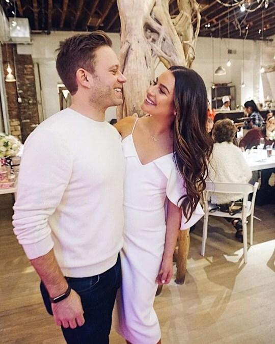 Lea Michele and Husband Zandy