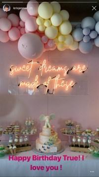 Khloe Kardashian True Thompson First Birthday Party
